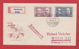 Tchécoslovaquie  --  Enveloppe Départ Praha  --  26/2/1962 - Cartas