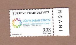 AC  -  TURKEY STAMP - WORLD HUMANITARIAN SUMMIT ISTANBUL MNH 26 MAY 2016 - 1921-... República