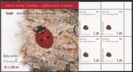 Kroatien, 2005, 713/15 MH 0-13/0-15, Käfer. Booklet, MNH - Kroatien