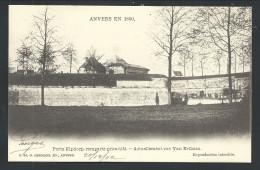 CPA - ANTWERPEN - ANVERS En 1860 - Porte Kipdorp ,remparts Primitifs - Act. Rue Van Ertborn - G.Hermans N° 10   // - Antwerpen