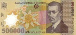 ROMANIA 500000 LEI 2000 (2000) P-115 XF RARE PREFIX 00  [ RO115 ] - Romania