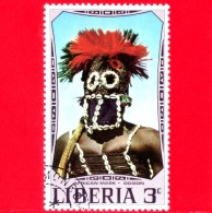 LIBERIA - Nuovo - 1971 - Maschere Africane - Mask - Dogon - 3 - Liberia