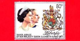 LIBERIA - Nuovo - 1977 - 25 Anni Di Regno Della Regina Elisabetta - 80 - Liberia