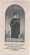 Santino Con Immagine Di Santa Rita Da Cascia (Perugia) Venerata Nella Chiesa A Lei Dedicata A Ferrara - Santini