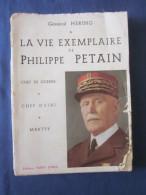 LA VIE EXEMPLAIRE DE PHILIPPE PETAIN PAR GENERAL HERRING 1956 - Boeken