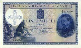 ROMANIA 5000 LEI 1940 P-48 UNC VERY RARE GRADE !!! SER: Z/1 058,250 [RO048] - Romania
