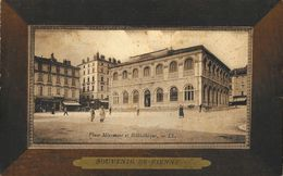 Souvenir De Vienne - Place Miremont Et La Bibliothèque - Carte LL (dans Cadre) N°34 - Souvenir De...
