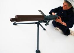 Vintage ACTION MAN PARTS : VICKER MACHINE GUN - Original Hasbro 1973 - Palitoy - GI JOE - Action Man