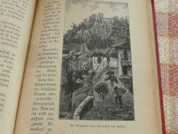 Alhambra Spain Engraving Print 1895 - Estampas & Grabados