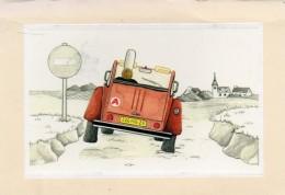 1900A  DEUX  CHEVAUX    17 12 CM    NON   ECRITE  VERSO - Passenger Cars