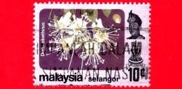 MALESIA - MALAYSIA - Usato - 1979 - Fiori - Flowers - Durio Zibethinus - Selangor - 10 C - Malesia (1964-...)