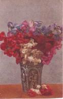 AK Blumenstrauß In Vase Mit Heiligenmotiv - 1917 (23669) - Blumen