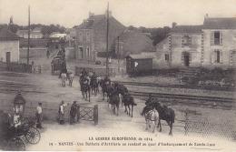 Nantes  Guerre Européenne 1914 Une Batterie Artillerie Au Quai D´embarquement De  Sainte Luce ( Passage A Niveau ) - Nantes