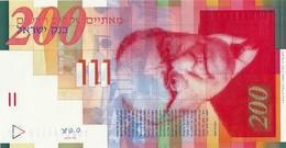 Israel (BOI) 200 New Sheqalim 2010 (2011) UNC Cat No. P-62d / IL439d - Israel