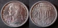 REUNION  2  Francs 1948  UNC / SUP   île BOURBON   PORT OFFERT - Réunion