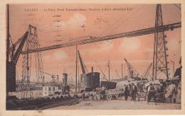 NANTES Le Port Pont Transbordeur Navires à Quais Direction Est Circulée Timbrée 1930 Peu Courante - Nantes