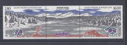 SPM - 1993 - TRIPTYQUE AVEC  VIGNETTE CENTRALE  - N° 586 A - XX  - MNH - TB - - Neufs