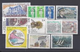 SPM - 1993-94 -  N° 584 - 587/589 - 591/598 -  TOUS XX - MNH - TB - - Neufs