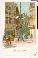1903 Germany Koln, Am Rhein, Wallraff-Platz Art Pc , Franz Hein, Ernest Nister Litho, - Koeln