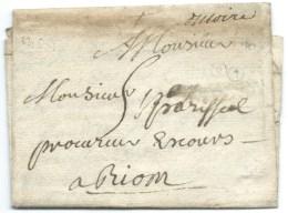 MP ISSOIRE SAUXILANGES / PUY DE DOME POUR RIOM 1751 - Postmark Collection (Covers)