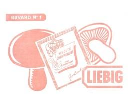 Buvard LIEBIG Buvard N°1 Velouté Champignons Pour 4 Personnes - Sopas & Salsas