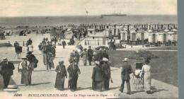 BOULOGNE SUR MER.la Plage Vue De La Digue - Boulogne Sur Mer