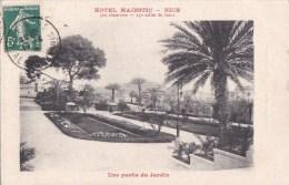 06 NICE 4 Boulevard De CIMIEZ  HOTEL MAJESTIC CPA Publicité Pour L´ HOTEL Devenu Aujourd´ Hui Une Coopropriété JARDIN - Cafés, Hotels, Restaurants