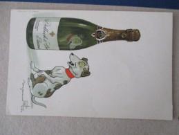 Cpa Benjamin Rabier Champagne Delbeck Reims - Rabier, B.