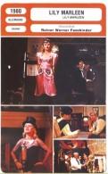Fiche De Mr Cinéma LILY MARLEEN - Réalisateur Werner Fassbinder - ALLEMAGNE 1980 - Merchandising