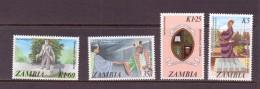 ZAMBIE 1987 UNIVERSITE  YVERT N°368/71 NEUF MNH** - Zambie (1965-...)