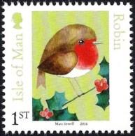 Isle Of Man IOM 2016 - Matt Sewell's Birds - Robin - Non Classificati
