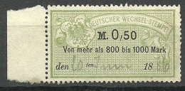 Germany 1886 Wechsel-Stempel Revenue Official Fiscal O - Allemagne
