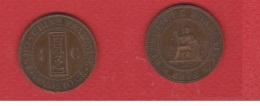 Indochine --  1 Centime 1892   --  état  TTB  - Km # 1