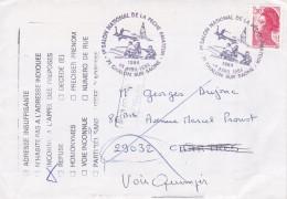 SALON NATIONAL DE LA PECHE 1984 CHALON SUR SAONE LETTRE REFUSEE  INCONNU A L'APPEL DES PREPOSES RETOUR A L'ENVOYEUR - Marcophilie (Lettres)