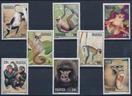 Rwanda**MONKEYS-GORILLA-CHIMPANZEE-GALLAGO-BABOON-POTTO-8vals-1978-Catval 17$-MNH-SINGES-AFFEN-Apen - Rwanda