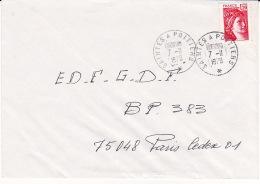 Lettre 1978 Ambulant ROUTIER De SAINTES A POITIERS TàD Type Rond Sur Sabine 1,20 - Marcophilie (Lettres)