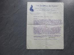 Saint-Jean-de-Luz 1935,  Les Dauphins De France, Lettre Villepion Pour Installation Prof NATATION : Ref 463 VP 16 - Documents Historiques