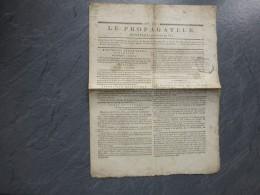 REVOLUTION 1799, Journal LE PROPAGATEUR, Cachet, Armées Du Rhin, Etc : Ref 476 VP 16 - Documents Historiques