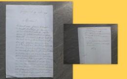 GARD, Garrigues, 1871, Vente De BOIS (Rasades ?) Et épidémie Ds Bergerie, Au Comte De Clervaux, PUECH : Ref 471 VP 16 - Historical Documents