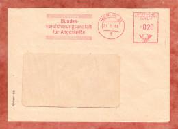 Brief, Absenderfreistempel, Bundesversicherungsanstalt Fuer Angestellte, 20 Pfg, Berlin 1966 (45896) - [5] Berlin
