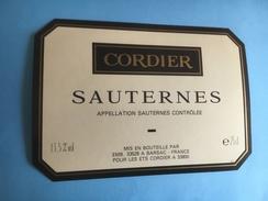 1081 - Sauternes  1989  2 étiquettes - Bordeaux