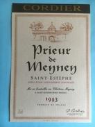 1083 -  Prieur De Meyney Saint -Estèphe 1983 - Bordeaux