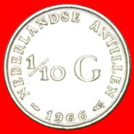 § SILVER: NETHERLANDS ANTILLES ★ 1/10 GULDEN 1966!!! LOW START★ NO RESERVE! - Antille Olandesi