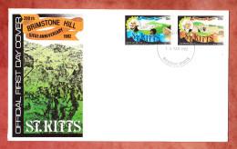 FDC, Belagerung Von Brimstone Hill, Erstausgabestempel Brasseterre St. Kitts 15.3.1982 (45981) - Andere