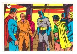 SUPERMAN & BATMAN - TOTAL GASOLINE - ITALY 1968  ORIGINAL CARD #20 - Chromo