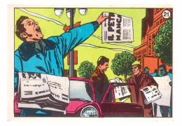 SUPERMAN & BATMAN - TOTAL GASOLINE - ITALY 1968  ORIGINAL CARD #21 - Chromo
