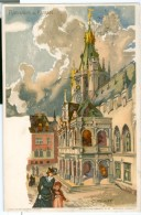 1903 Germany Rathaus In Koeln Art Pc, C.Pfaff Signed , Used To Belgium - Koeln