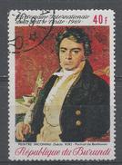 Burundi 1969, Scott #296 Intl. Letter Writing Week. Ludwig Van Beethoven, Painter Unknown (U) - Burundi