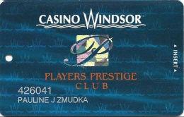 Casino Windsor - Windosr ON Canada - Slot Card - Hologram P Logo & 2 Phone#s On Reverse - Casino Cards