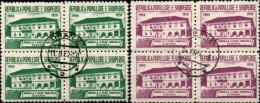 Schule Elbasan 1960 Albanien 607/8 Im 4-Block O 16€ Architectur Schul-Gebäude M/s First Scool Sheet Bf ALBANIA Shqiperia - Childhood & Youth